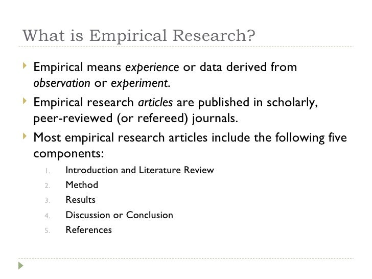what is empirical literature review